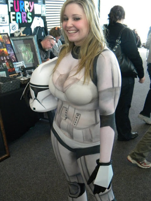 Star Wars Body Painted Cosplay Babes04