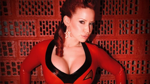 Bianca as a Star Trek Red Shirt